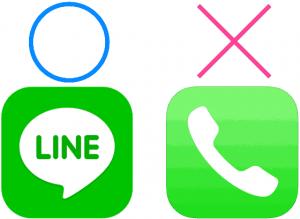 LINEはできるけど電話が通じないイメージ